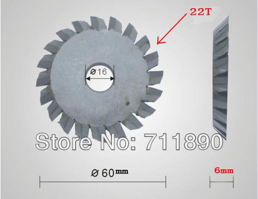 60*16*6mm size 22 teeth tungsten key cutting machine blade.key machine blade(China (Mainland))
