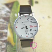 wholesale price good quality fashion girl woman unisex children English number one five wrist watch wristwatch relogios feminino