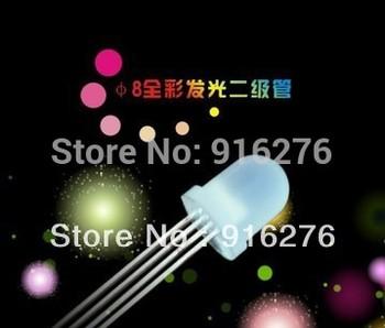 High Bright LED 8mm 4pin full color RGB LEDs beads light for WS2811, WS2801, LPD1886,1903 etc  led pixel module, 100pcs/lot