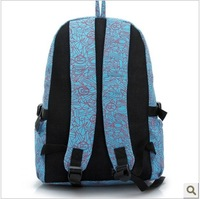 Free shipping 2014 double-shoulder school bag preppy style trend vertical backpack canvas bag