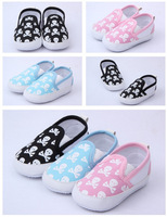 Cute Blue Pink Black New Newborn Baby Infant Toddler Children Canvas Skull Unisex Crib Shoes Socks Slipper for 0-18months