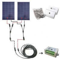 EU stock COMPLETE KIT 200W Solar Panel cells off grid system, 200w solar system for home& free shipping# * no taxis no duty