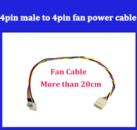 5pcs/lot New High Quality 4pin male to 4pin femail fan power cable  more than 20cm  freeshipping