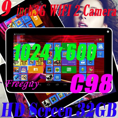 9 pollici schermo ips Android 4.2 tablet pc hdmi grande batteria tablet pc hdmi 1024*600 andorid 9 pollici tablet pc spedizione gratis