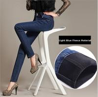 Best quality!Super Warm 2013 Winter New Women's trousers fleece pure color Slim jeans thicken Pants ,plus size,XXS-6XL