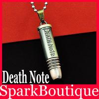 Latest Stainless Steel Men Necklace Death Note Pendant 2pcs/lot WG