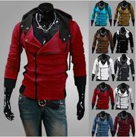 2014 Autumn&Winter Fashion Slim Cardigan Hoodies Sweatshirt Outerwear Clothing Men.Brand Causal Sports Outdoor Wear