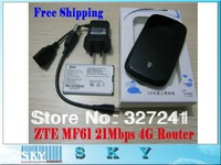 Free Shipping 1PCS/LOT UNLOCKED 3G ZTE MF61 WCDMA Router 22.7 Mbps 3G Wifi Modem Router Hotspot
