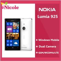 Nokia Lumia 925 Original  Unlocked Windows  Refurbished  Mobile Phone  8MP WIFI GPS 4G 16GB internal By SG post Free Shipping