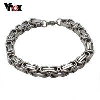 Fashion Men's bracelet jewelry  Stainless Steel  Byzantine bracelets bangles