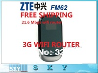 ZTE MF62/MF60/MF61 21.6M WCDMA 3Gwifi wireless 3G modem,wireless router for ipad iPhone,laptop free shipping