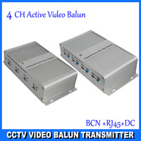 3 Years Warranty 4 channel Active Video Balun for CCTV,BNC to UTP RJ45 Twisted Video Balun aAive Receiver DS-UA0411C(R+T)