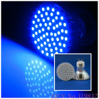10 pcs/lot GU10 4W 400LM Blue Light 60 SMD 3528 LED Spot Down Light Bulb Lamp 220V-240V LED0278