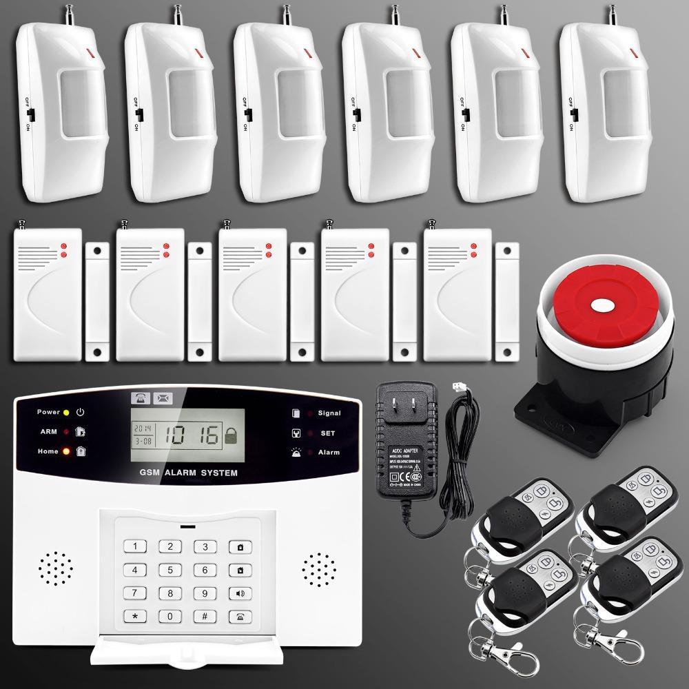 Englisch russisch spanisch französisch Stimme wireless gsm alarmanlage hause Alarmsysteme mit lcd-tastatur sensor alarm