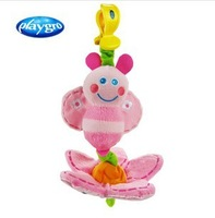 hot sale Australia high quality colorful playgro pink bees baby stroller rattles plush dolls/ kids toys 1pcs &Free gift