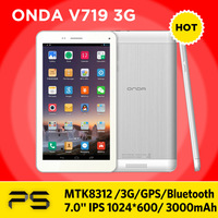 7.0 inch original onda v719 3G phone call tablet  MTK8312 Dual core android 4.2 bluetooth gps built in dual camera