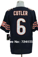 13.Free shipping Rugby jerseys American Football jerseys elite men's 6# CUTLER computer embroidered Size 40-56
