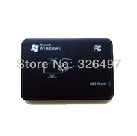 rfid IC card reader with usb interface(8~10cm)door access control system+free shipping +free sample testing cards
