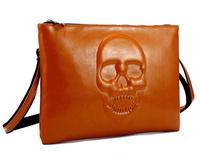 Vintage skull bag genuine leather bolsos women handbag shoulder bag casual bolsas female messenger bags woman envelope clutch