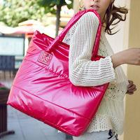 Free Shipping Hot Winter Cotton Handbag Fashion Women Handbag Female Shoulder Bag,Warm Handbag,Leisure Down Feather Totes BG1500
