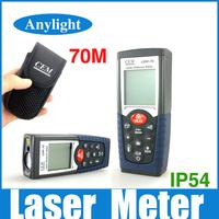 CEM 70m Laser distance meter laser rangefinder Range finder Tape measurer IP54 with LCD backlight WAL07