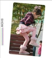 Children's clothing female child legging/bust skirt pants 100% cotton thin for spring/autumn