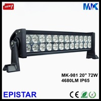 "2PCS/Lot,20"" Black,White 72W Epistar Led Light Bar IP65 4680LM 12V 24V 6000K Double Row 20 Inch Epistar Led Light Bar MK-981"