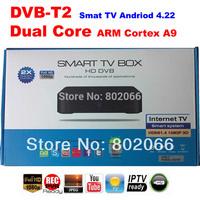 2014  Free Shipping 1080p  Dual core 8726MX DVB t2 receiver  Android 4.22 TV BOX Google TV Box IPTV hd dvb-t2 andriod dvb-t