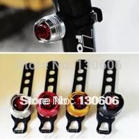 Bicycle Light  Round ruby mountain bike rear light aluminum alloy bike light helmet lights warning light Free shipping