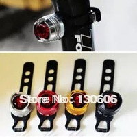 Free shipping 3Pcs/lot  Round ruby mountain bike rear light aluminum alloy bicycle ocellus helmet lights warning light