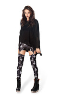 leggings Digital Printing Europe and America  St. Cross black leggings for women winter leggings