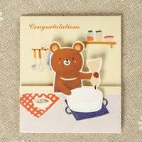 E132 MINI 1109 22 Designs Cute Cartoon 3D Greeting Cards With Envelope Handmade Birthday Love Thank you card kid's Gift 6cmx7cm