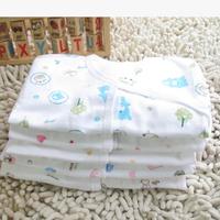 2014 100% cotton newborn infant underwear set  soft cardigan long johns autumn and winter babies's bodysuit DZ18
