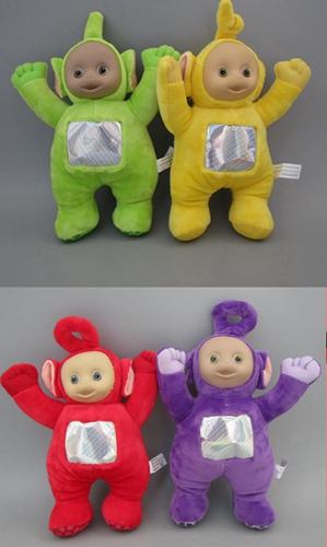 """Retail one set(1set=4pcs)Teletubby Plush Toy Doll Teletubbies 10"""" Laa Tinky Winky Plush toy Free Shipping(China (Mainland))"""
