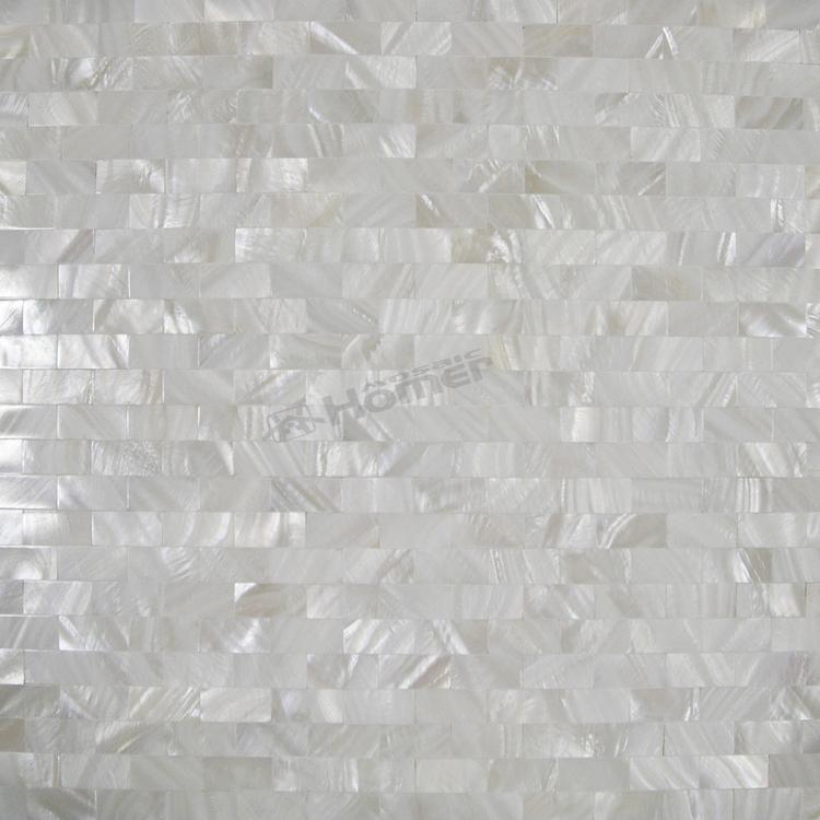 free shipping brick pattern seamless white mother of pearl tiles, pure white mother of pearl backsplash(China (Mainland))