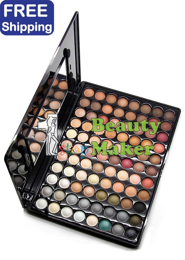 88 color mate paleta de sombra de ojos en negrilla y maquillaje