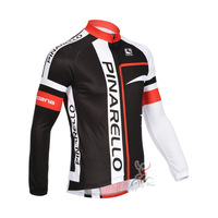 Free Shipping 2013 Pinarello Team Men's Long Sleeve Cycling Jerseys Breathable Wicking Quick-drying Cycling Jerseys