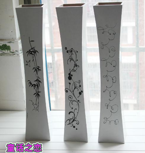 2014 new Fashion home decoration modern brief decoration floor vase wooden vase traditional vase(China (Mainland))