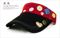 Korean mixed colors Button Miss cycling sun hat baseball cap visor empty factory wholesale