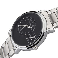 2 Time Zones Quartz Watch for Men / EYKI Brand Men's High Quality Business Wrist Watches 2013 New Steel Hours 8353