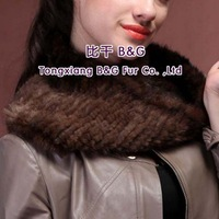 BG29523  Genuine Mink Fur Wraps Scarf  Wholesale Retail New Style Winter Fur Scarf