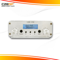 Free Shipping CZE-15A 15watts Stereo Audio Amplifier Broadcast Radio FM Transmitter Kits