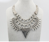 high quality 2014fashion collares jewelry brand luxury false collarsliver chain punk pendant false collar choker necklace women