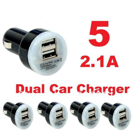 1pcs 2.1A + 1A Dual USB Car Charger for iPad,for iPhone 5 4G 3GS and Cell Phone / PDA / Mp3 / Mp4 samsung galaxy s4 s3(China (Mainland))