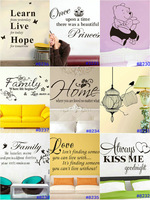 Removable Vinyl PVC Art Quote Kids Wall Stickers Decal Home Room DIY Decor