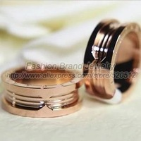 Fashion brand replica classic gear ring 18k rose gold silver titanium stainless steel ring women men couples ring jewelry gift