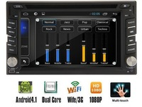 Free Shipping, Capacitive Android 4.2 Double din universal Car DVD Player+Stereo+GPS Navigation+Bluetooth+Steering wheel control