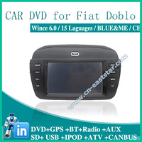 Car DVD for fiat doblo BLUE ME GPS DVD BT RADIO USB AUX SD IPOD audio video player Free shipping  1395