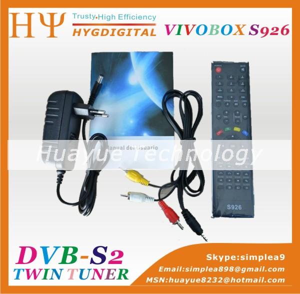 hd fta receiver for nagra 3 decoder Vivobox s926 iks/sks full hd receiver 1080p(China (Mainland))