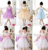 2014 New Bestselling  Girl Cute  Party Dress Girls Summer Print princess  Dresses flower  dress size 90-150 yards 6 styles